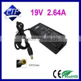 Factory bulk sale 19V 2.64A 5.5*2.5mm laptop Adapter for Delta ADP-50HH laptop charger 50w power supply