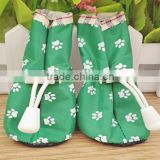 Fashion waterproof pet dog shoes/dog rain shoes