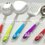10 PCS 201 Colorful Plastic Handle Stainless Steel Cooking Ware KX-K002
