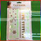 flash gold silver blue metallic foil temporary tattoos, jewelry, traditional glowing tattoo