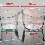 Hhigh quality 500ml glass measuring cup and 1000ml liquid measuring container or measuring jug