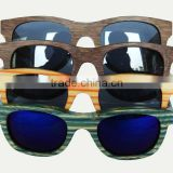 colorful bamboo sunglasses with purple mirror lens vintageround frame bamboo sunglasses with poarized lens