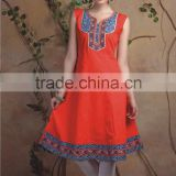 Indian Hand Block Printed Top Kurti Dress Ladies Women Kurta Blouse Shirt