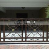 Curved wrought iron stair railings/outdoor wrought iron railings/used wrought iron stair railing