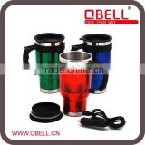 stainless steel and plastic heated travel mug for car/water mug /car mug
