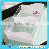 high quality acrylic skin care product storage organizer elegant white perspex drawer makeup box