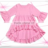 2016 Wholesale Young Girl Fall Cotton Clothing , Boutique Remake Kids Outfits Set Long Sleeve Tops + Cropped Pants