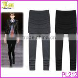 New Arrival Sexy Women Soft Stretch Cotton Band Skirt Leggings High Waist Yoga Pant Lounge