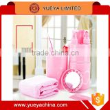 Wash suit Towel Toothbrush Toothpaste Holder shampoo shower gel container with mirror and comb Set
