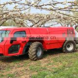 hot sale self propelled garden orchard high press boom air blast sprayer vehicle 1000L tank with 60Hp engine and a/c cabin