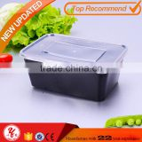 Wow unbelieveliable 1000ml one compartment square bento microwavable disposable pp food containers