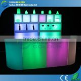 GLACS Control RGB Color Straight and Corner LED Bar Counter Restaurant Bar Counter Design