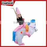 Factory directly sell adult big cartoon characters adult size inflatable unicorn costume