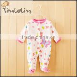 2015 new baby girls butterfly fleece couple footed pajamas,blanket pajamas