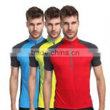 Cheap Wholesale Mens Running Shirts Plain Cycling Shirts Dry Fit Turtle Neck polo T-Shirt 1/2 Zipper Pullover Jersey