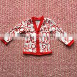 Wholesale Latest Baby Clothing Love Pattern Coat Valentine's Day Baby Jacket