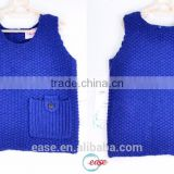 100% cotton handmade baby sweater in solid color