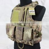 600D Oxford Cloth Military Tactical army vest with gun holster plate carrier Camouflage Tactical vest
