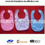 Waterproof velcro plain baby bib
