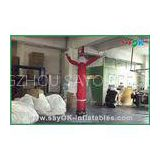 Snowman Shape Indoor Inflatable Air Dancer For Holiday Advertising