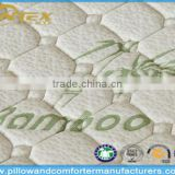 Eco-friendly bamboo quilted memory foam mattress topper