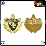 2014 new design custom metal badge. metal badge factory.gold plating metal badge made in china