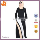 custom make new design abaya egypt,contracting color muslim midi dress,maternity dress for muslim