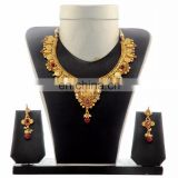 IndianTtraditional Wedding Jewelry Set - One Gram gold plated necklace set