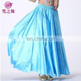 Arabic satin long belly dance skirt for women and children with size 95cm and 75cm Q-6023#