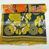 Vintage Kantha quilt Good Quality Indian Reversible Wholesale Lot Cotton Kantha Quilt