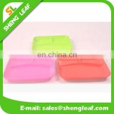 silicone food serving plate bowl with three parts