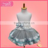 A-line with tulle overlay skirt wedding dress,bulk wholesale kids halloween clothing, fashion party girls skirts