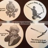 Silicone coaster, custom rubber cardboard coaster, 2D/ 3D paper coasters for beer