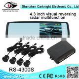 4.3 inch special car rear view mirror system professional factory,parking sensor system