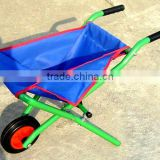 Folding kids wheelbarrow, folding wheel barrow, foldaway wheel barrow, garden wheelbarrow