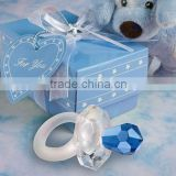 crystal gift of blue pacifier Baby Shower favors for baby gift