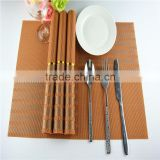 Orange grid pvc placemat automatic plastic toothpick dispenser / auto sun visor clip table mat / australia flag toothpicks