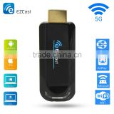OEM miracast EZCAST 5G usb wifi display dongle bluetooth 4.2 dongle smart tv stick ezcast 5g miracast dongle