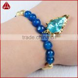 Women's Earth Agate Lacey Agate Bead Sally Beaded Stretch Bracelet With Arrowhead Pendants