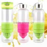 Sport 500ML Fruit Infusing Infuser Glass Water Bottle with box Creative Fruit Sports Health Lemon Juice Make Bottle