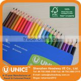 Wooden Coloured Pencil Stationery Set; Wooden Coloured Pencil Set with FSC