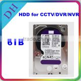 safe storage hdd 6tb internal 3.5'' 5400rpm used sata hard drive for CCTV/DVR/NVR