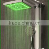 Ningbo electric head shower with led Light color Rain shower head temperature control shower head LED shower head