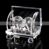 lovely crystal pig couple animal figurines for wholesale                                                                         Quality Choice