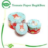 custom printed creative cute design paper cylinder candle packaging box, cardboard round soap box