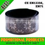 EN 13356 custom China Sports printed Plastic reflective slap wrap bracelets