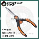Fiberglass banana type handle with smart lock S50C blade garden Small Hedge Shear