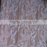 Cheap white elegant tulle lace french net lace with sequin and stone