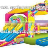 Newest hot sale cheap DUCK Classical inflatable bouncy house and fun slide combo castle for sale