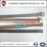 Women Belt inspection service in China
